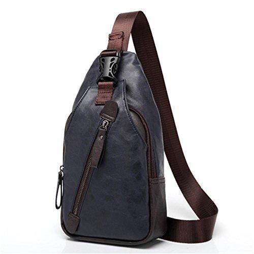 Rurah Men's Crossbody Bag for Women & Men Travel Shoulder Bags One Strap Pack Crossbody Purse for Hiking Camping,blue by Rurah