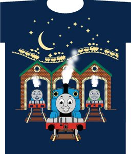 Thomas the Tank At the Station (Glow in the Dark) Blue T-Shirt, Size:4 Junior (Tag Junior Books Thomas)