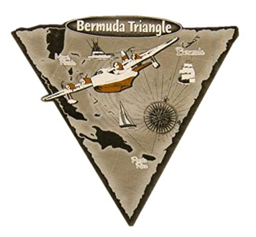 The Bermuda Triangle Die Cut Auto Car Vinyl Decal Sticker X-Files Type UFO Saucer Aliens Science Fiction Humor Comics Horror Cryptids Creatures Monster Emblem Badge Application