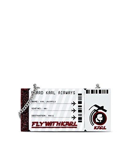 Karl Lagerfeld Pochette Donna 71KW3071 Pvc Argento