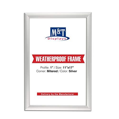 (M&T Displays Weatherproof Frame, 11x17 Poster Size, 1