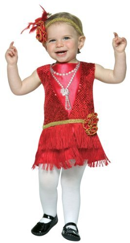 Flapper Toddler Costumes - Toddler Flapper Dress Costume, Size Toddler