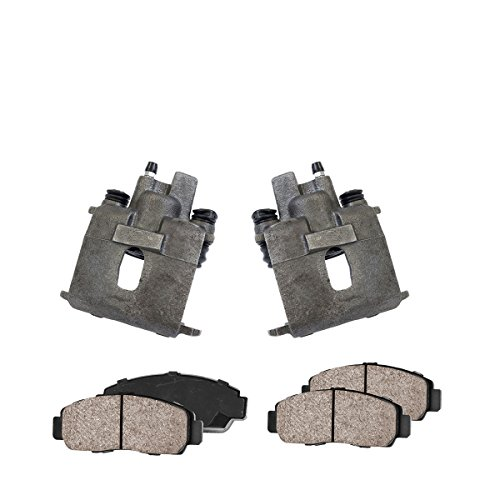 CCK03256 REAR [2] Premium Loaded OE Caliper Assembly Set + [4] Quiet Low Dust Ceramic Brake Pads ()