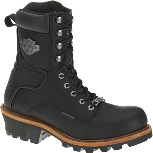 (Harley-Davidson Men's Tyson Logger Boot,Black,9 M US)