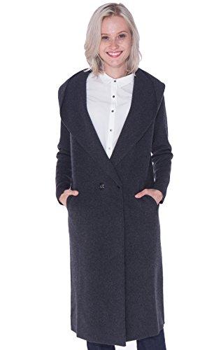 LEBAC Women's 100% Cashmere Full Length Topcoat/Overcoat with (Womens Full Length Overcoat)