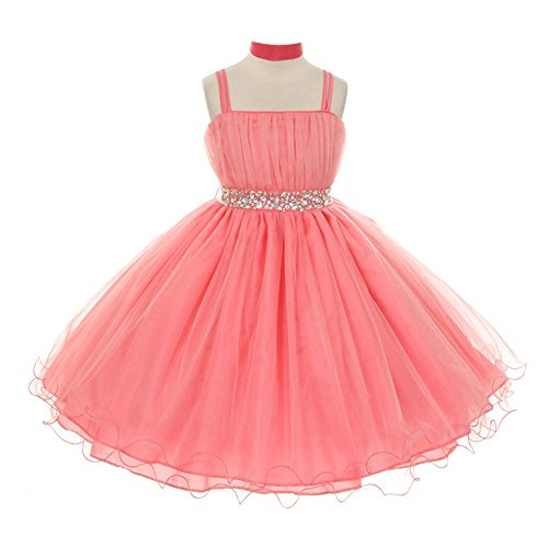 Angels Garment Little Girls Pink Silk Taffeta Bubble Easter Spring Dress 5