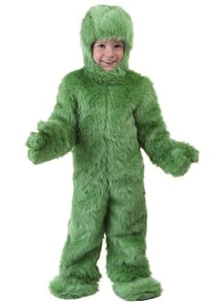 Little Boys' Toddler Green Furry Jumpsuit 2T