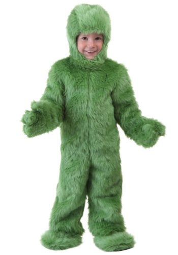 [Fun Costumes unisex-child Toddler Green Furry Jumpsuit 4T] (Child Grinch Costumes)