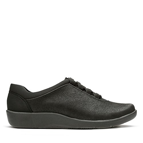 Clarks Sillian Pine Textile Shoes in Black gVhIK