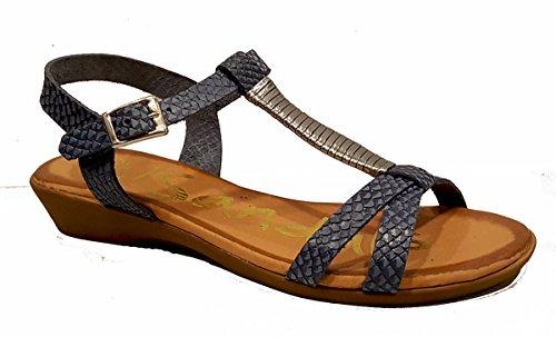 Marino My Piel Cuña Plomo Sandals Oh Sandalia Con 3615 De HpdRWqx0
