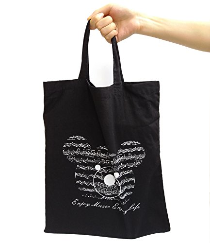 Cotton-Bag-Crosstree-Washable-Reusable-Grocery-Cute-Bag-Music-Element-High-Density-Canvas-Tote-Bag-Shopping-Bag