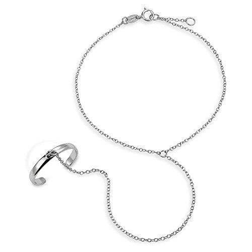 925 Sterling Silver Hand Chain Slave ()