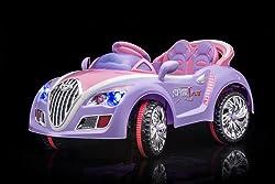 SPORTrax Bugatti Style Kid's Ride On Car, Battery Powered, Remote Control, w/FREE MP3 Player - Purple