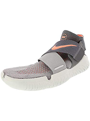 (Nike Women's Free Rn Motion Fk 2018 Atmosphere Grey/Crimson Pulse Ankle-High Running Shoe - 9.5M)