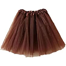ShenPr Clearance/Hot Sale Women Sexy Layered Gauze Net Organza Lace Ballet Dance Tutu Mini Skirt (Coffee)