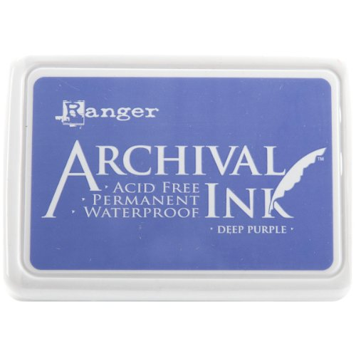Ranger AIP-30430 Archival Inkpad, Deep Purple (Pearl Stamp Pad)