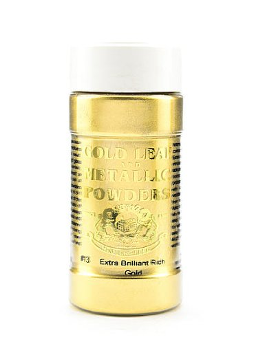 Faux Gold Leaf - Gold Leaf & Metallic Co. Metallic and Mica Powders extra brilliant rich gold 2 oz.