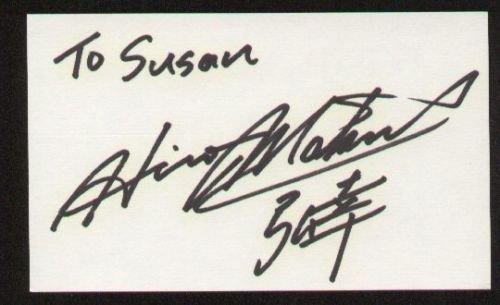 Hiro Matsushita signed autographed 3x5 index card