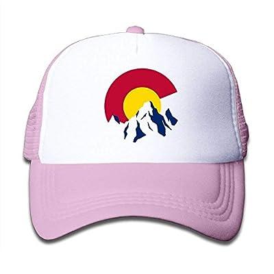 Colorado Rocky Mountain Mesh Baseball Caps Youth Adjustable Trucker Hats Boy Girl