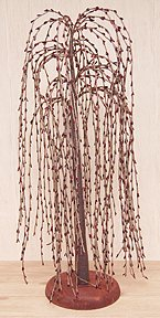 Burgundy Pip Berry Weeping Willow Tree Country Primitive Floral Décor