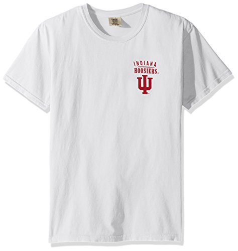 NCAA Indiana Hoosiers Adult Unisex NCAA Limited Edition Comfort Color Short sleeve T-Shirt,Large,White