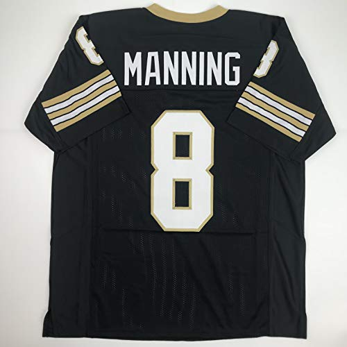 (Unsigned Archie Manning New Orleans Black Custom Stitched Football Jersey Size Men's XL New No Brands/Logos)