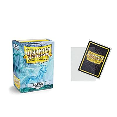 Dragon Shield Matte Clear Standard Size Card Sleeves Display Box [10 packs]: Toys & Games