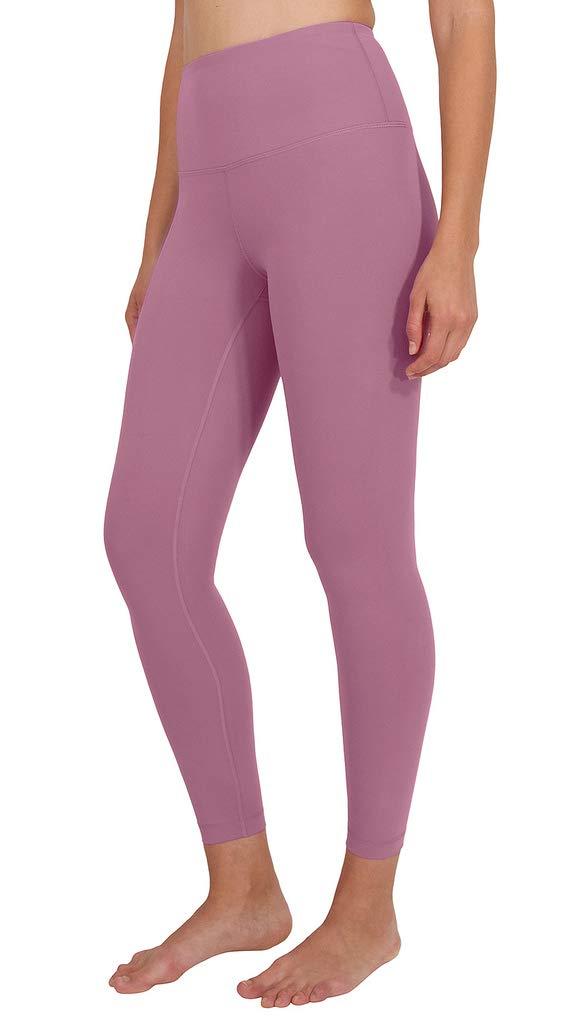 90 Degree By Reflex High Waist Power Flex Legging - Tummy Control - Moonlite Mauve Ankle - XS