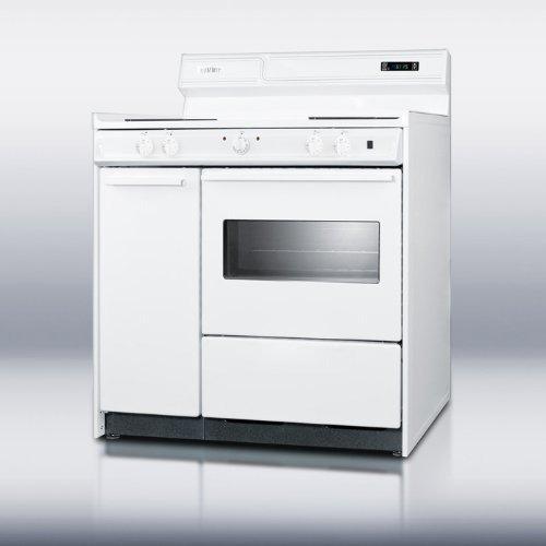 Summit WEM430KW Kitchen Electric Cooking Range, White by Summit