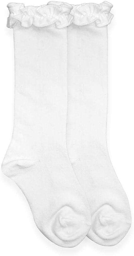 Jefferies Socks Little Girls Ruffle Knee High Socks 1 Pack