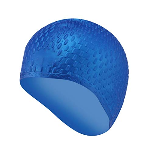 BOWINUS Waterproof Silicone Swimming Cap Unisex Solid Color Water Drop Pool Hats Flexible Water Sports Wear Accessory