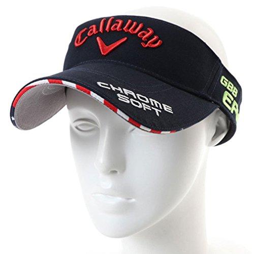 Callaway(キャロウェイ) メンズ ゴルフ サンバイザー ツアーバイザー18JM (2478990600) ネイビー フリー