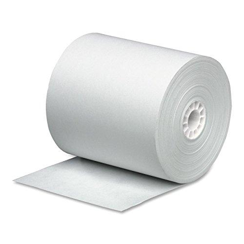 PM Company Cash Register Paper Rolls, 3 Inch x 165 Feet, 50 Rolls per Carton (07788)