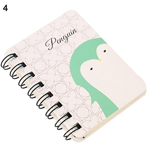Price comparison product image Slendima Sale! 80 Sheets Mini Cute Animal Spiral Notebook Cartoon Coil Book for Diary School Office Supplies - 11 Lovely Types