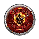Past Time Signs SM041 Lucifers Choppers Motorcycle Clock