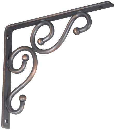 Stanley Hardware S250-592 773 Ornamental Shelf Brackets in Antique Bronze, 7'' x 8'' by Stanley Hardware