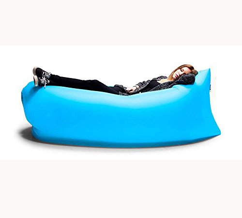 Inflatable Couch, ZEYI Portable Inflatable Air Sofa, Outdoor Waterproof Inflatable Lounger Best for Beach,Camping, Blue