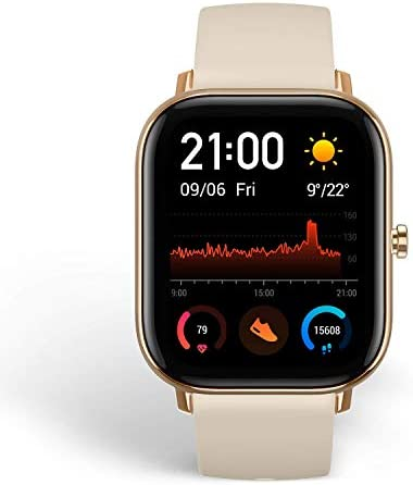 Amazfit GTS Reloj inteligente de cuerpo de metal delgado, notificaciones inteligentes, seguimiento de actividad, duración de la batería de 14 días, resistencia al agua, GTS, 1.65, Dorado Desierto 4
