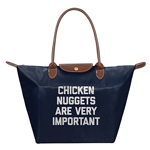 Adwelirhfwer Unisex Chicken Nuggets Are Very Important Folding Pack Navy by Adwelirhfwer