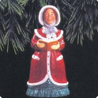 Caroler Bell Ornament - Lady Daphne Dickens Caroler Bell Series 1993 Hallmark Ornament QX5505 by Hallmark Ornaments
