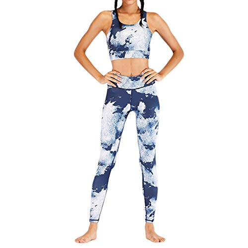 Yoga Suits Respctful✿ Women 2 Piece Outfits with Workout Crop Top Racer Back Sports Bras+Leggings Tracksuits