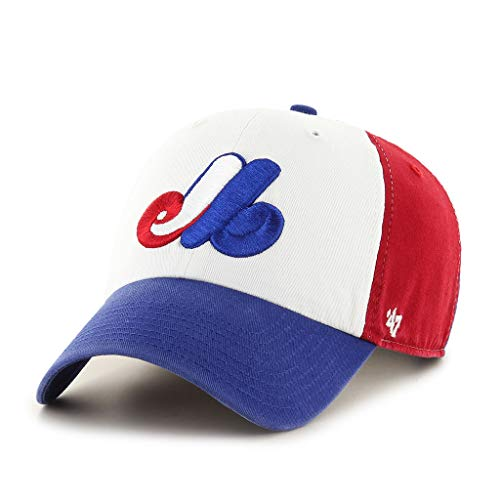 Montreal Expos Clean Up Adjustable Cap TriColor 47 Brand (Expos Hat)