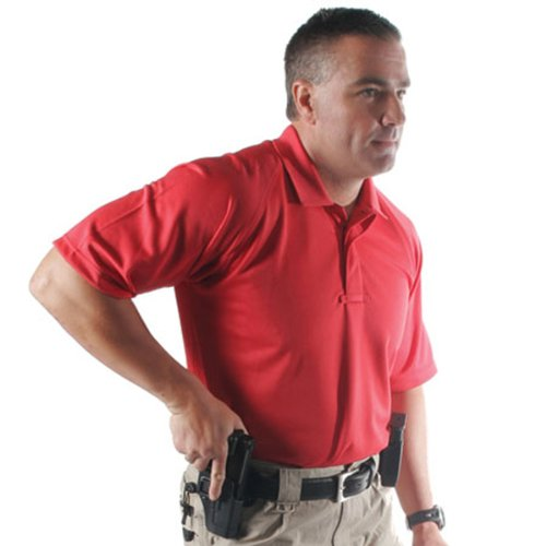 Blackhawk Warrior Wear - BLACKHAWK! Men's Warrior Wear Performance Polo Shirt (Range Red, Large)