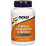 Now Supplements, 8 Billion Acidophilus & Bifidus, Dairy, Soy and Gluten Free, Strain Verified, 120 Veg Capsules