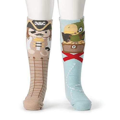 DEMDACO Knee Story Time Socks, Pirate/Parrot