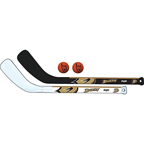 Franklin Sports NHL Anaheim Ducks Mini Hockey 2 Piece Player Stick Set ()
