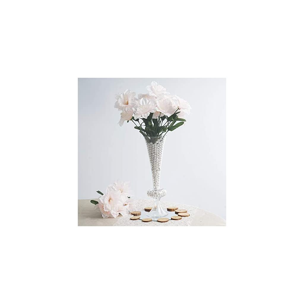 Balsacircle 72 Blush Silk Daffodil Flowers 12 Bushes Artificial