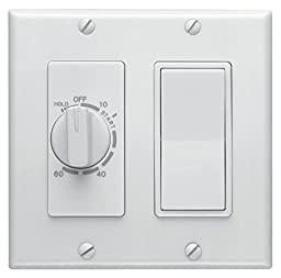 Broan 63W 60-Minute Time Control with 1-Rocker Switch, White