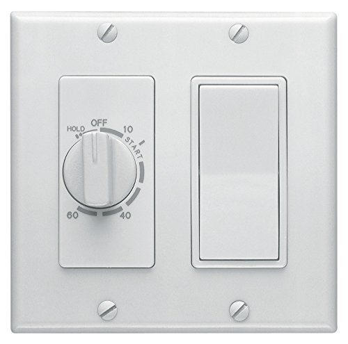 Broan 63W 60-Minute Time Control with 1-Rocker Switch, White by Broan-NuTone