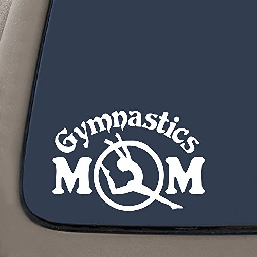 NI502 Gymnastics Mom Decal Sticker | 5.5-Inches | Premium Quality White Vinyl Decal